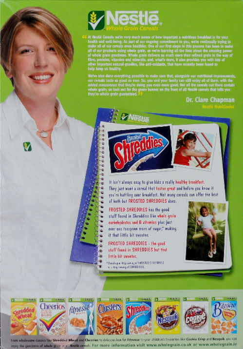 2006 Shreddies Nutritionist (1)