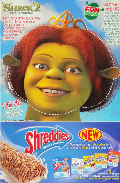 2004 Shreddies Shrek 2 Fiona Mask