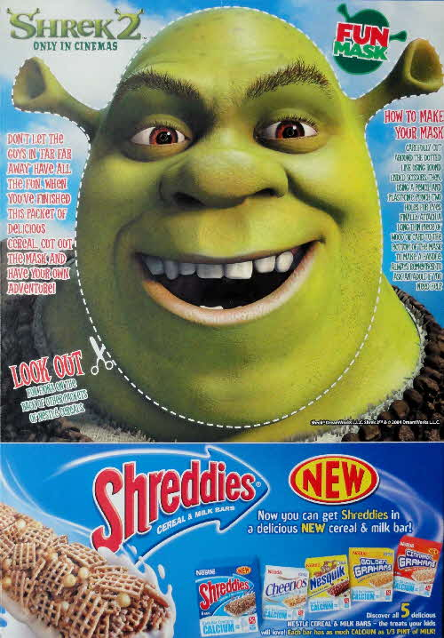 2004 Shreddies Shrek 2 Shrek Mask