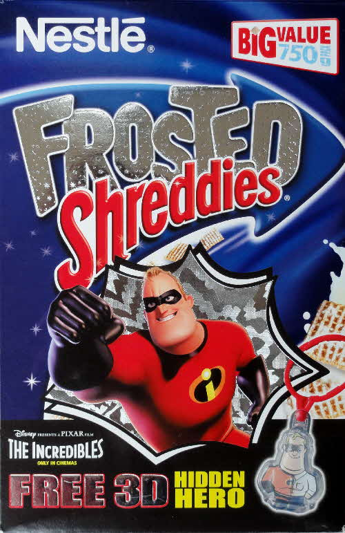2004 Shreddies The Incredibles Character Tags frosted front
