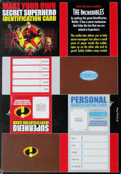 2004 Shreddies The Incredibles Secret Superhero ID Card (1)