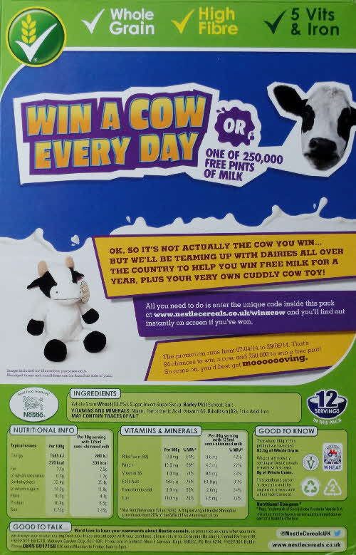 2014 Shreddies Win a Cow Competition
