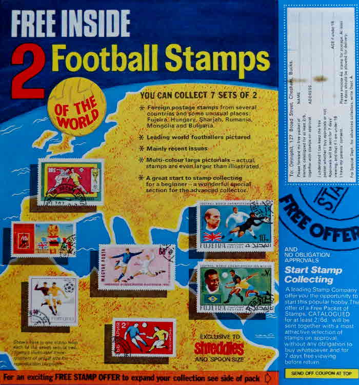 1960s Spoonsize Football Stamps