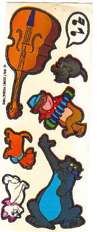 1971 Shreddies Aristocat stickers 1