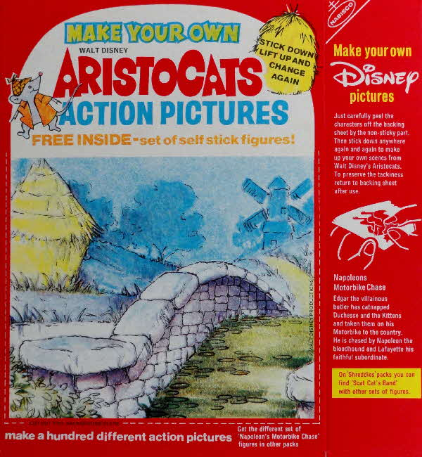 1971 Spoonsize Aristocats Action Pictures & Stickers