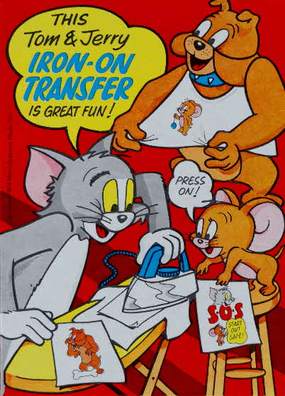 1974 Spoonsize Tom & Jerry Iron on Transfer (1)