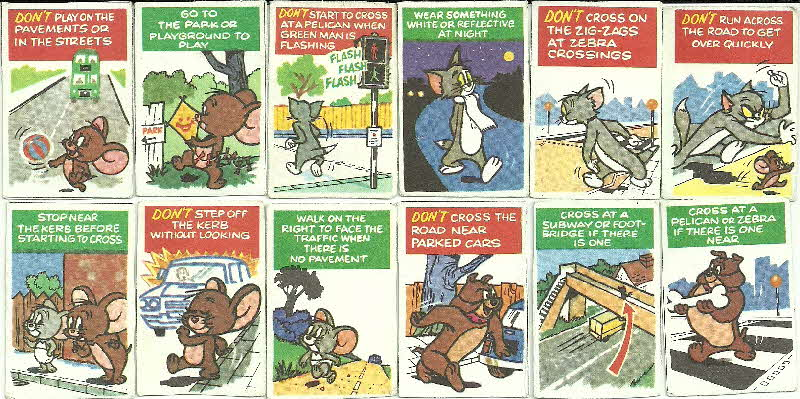 1975 Shreddies Tom & Jerry Green X Code Mini Playing Cards - Dangerous Doubles (1)