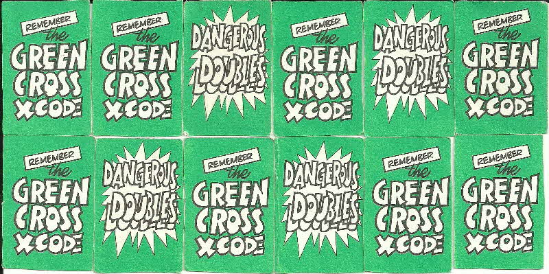 1975 Shreddies Tom & Jerry Green X Code Mini Playing Cards - Dangerous Doubles (2)