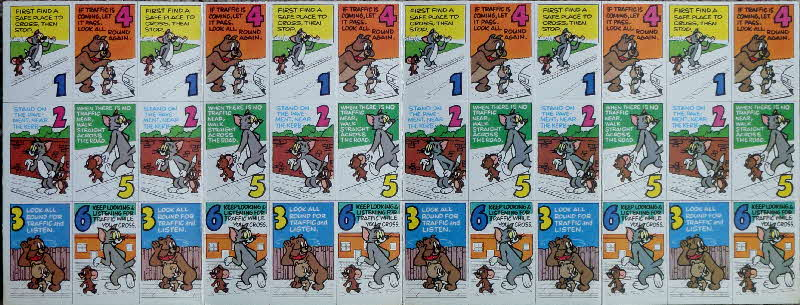 1975 Shreddies Tom & Jerry Green X Code Mini Playing Cards - Safety 6 (1)