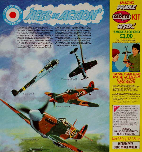 1980 Spoonsize Aces in Action Picture Cards & Airfix Model (1)