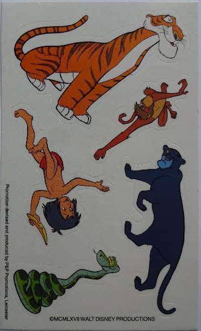 1983 Shredded Wheat Cubs Jungle Book Stick n Lift Sheet Stickers (1)