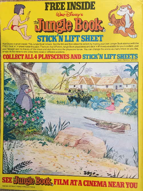 1983 Shredded Wheat Cubs Jungle Book Stick n Lift