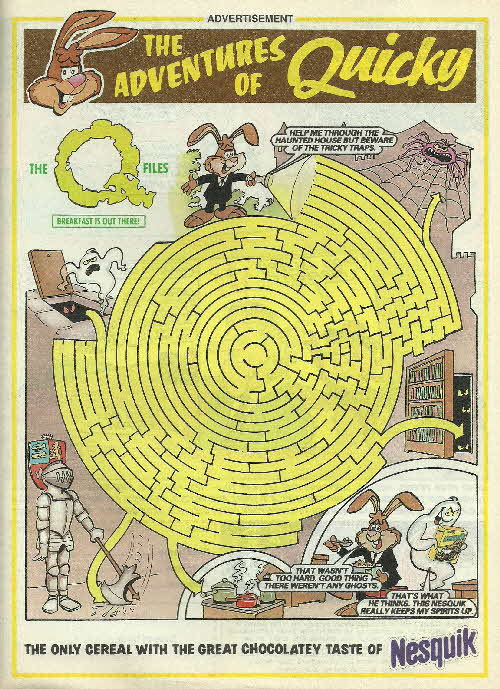 1996 Nesquick Adventures of Quicky - Q Files Ghost Maze