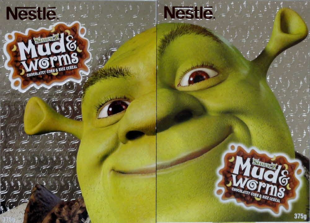 2004 Nestle Mud & Worms Shrek 2 - front and back