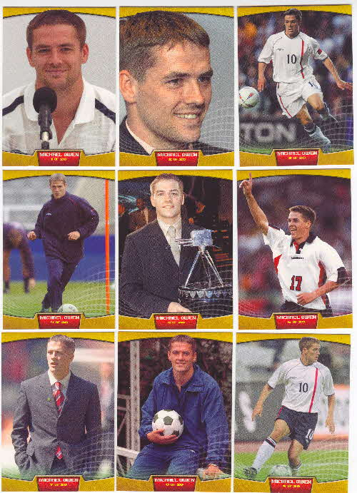 2002 Sporties Michael Owen Photocards 1