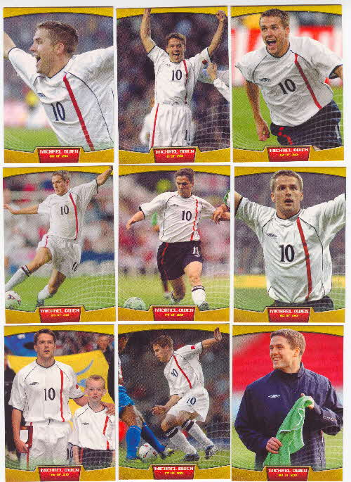 2002 Sporties Michael Owen Photocards 2