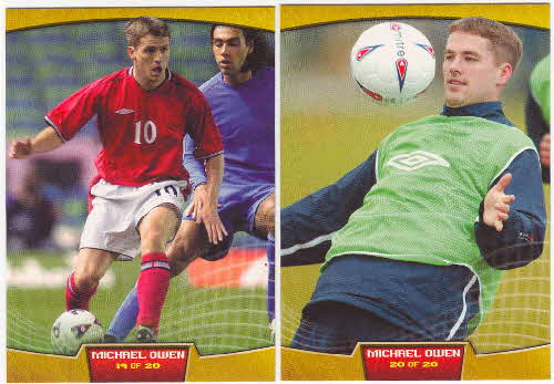2002 Sporties Michael Owen Photocards 3