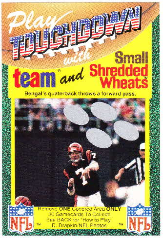 1989 Small Shredded Wheat Touchdown Gamecards (1)