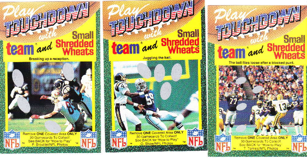 1989 Small Shredded Wheat Touchdown Gamecards (2)1
