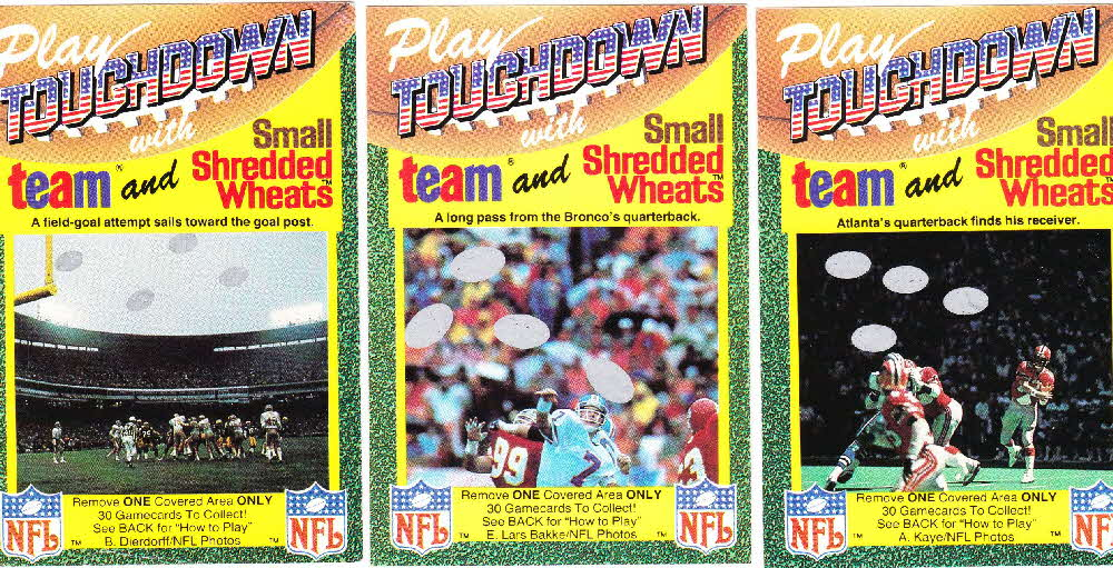 1989 Small Shredded Wheat Touchdown Gamecards (3)