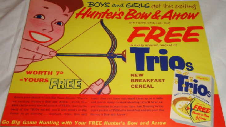 1960 Trios Hunters Bow & Arrow (betr)