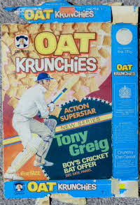 For Sale 1975 Oat Krunchies Action Superhero Tony Greig Cricket Offer (1)