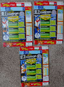 For Sale 2006 Frosties Tiger Power Footy Skills set (1)