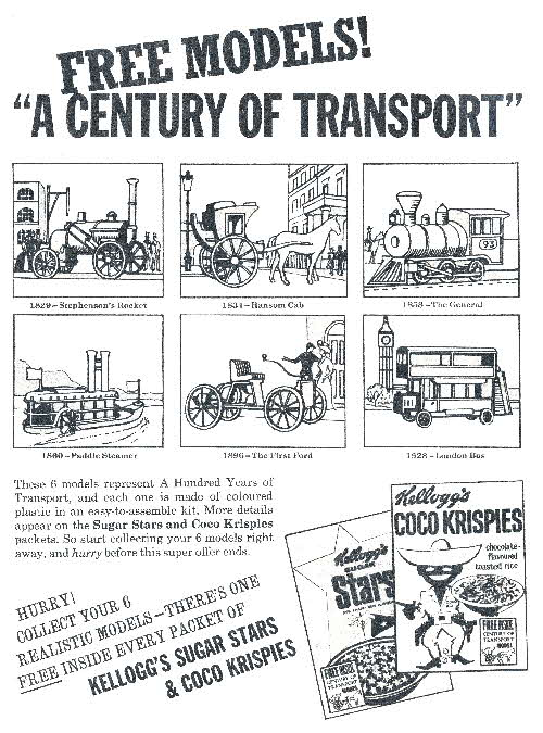 1966 Coco Krispies Century of Transport
