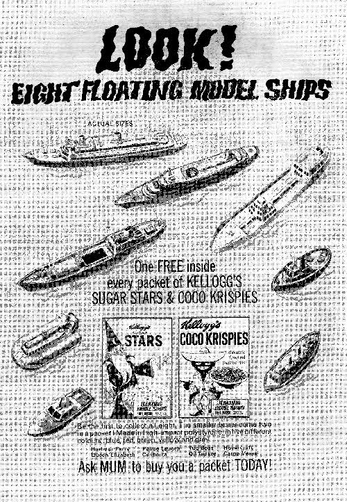 1968 Coco Krispies Model Ships