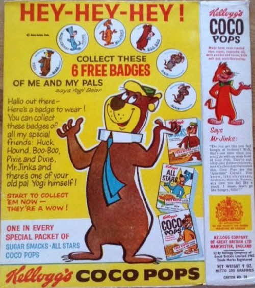 1962 Sugar Smacks Yogi Bear & Friends Badges (1)