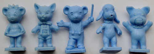 1973 Coco Krispies Rice Sooty & Friends Models - Light blue