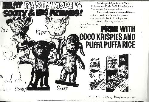 1973 Coco Pops Sooty Figures