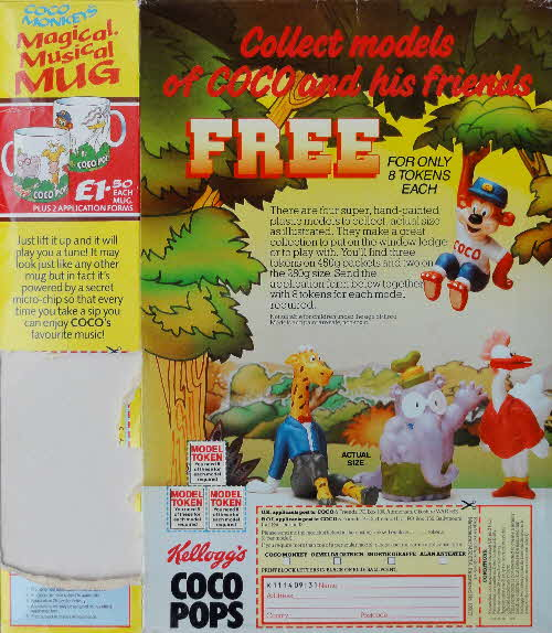 1988 Coco Pops Coco & Friends Models and Magical Musical Mug