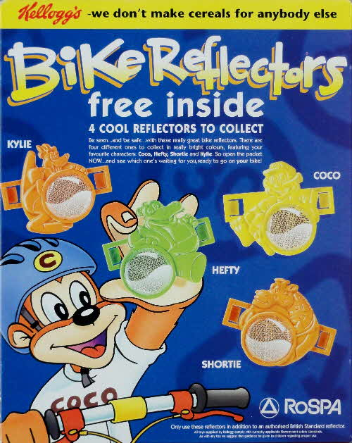 1995 Coco Pops Bike Reflectors
