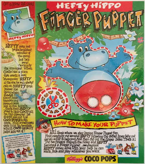 1992 Coco Pops Finger Puppet Hefty