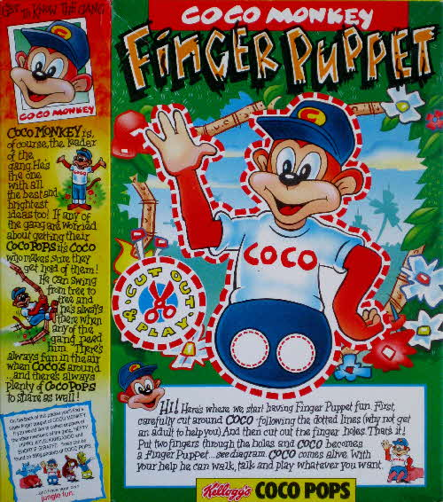 1992 Coco Pops Finger Puppet