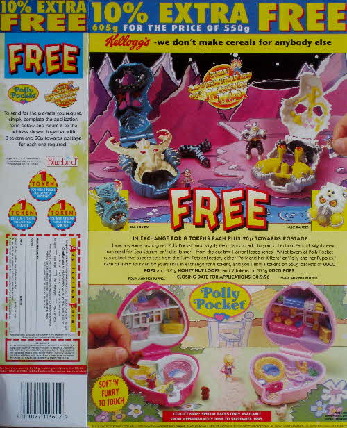 1995 Coco Pops Mighty Max & Polly Pocket Compacts
