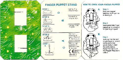 1994 Coco Pops Sooty Finger Puppet details