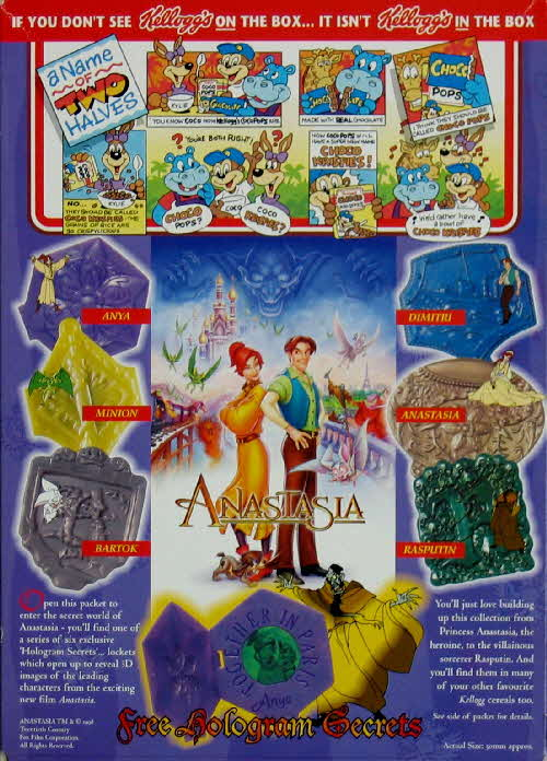 1998 Choco Krispies Anastasia Hologram Secrets