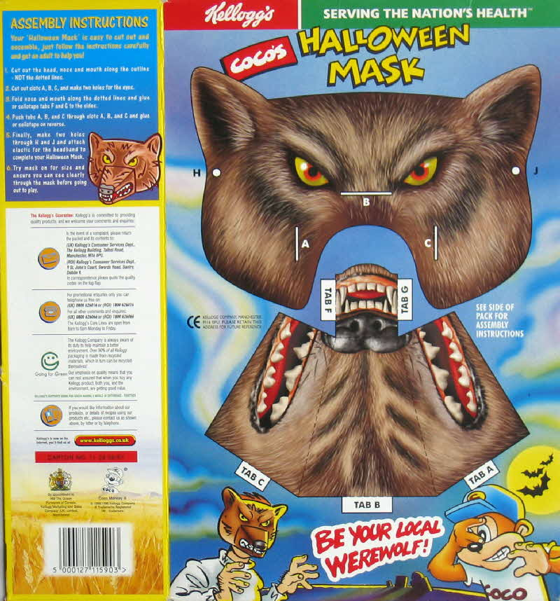 1997 Coco Pops Halloween Mask 2