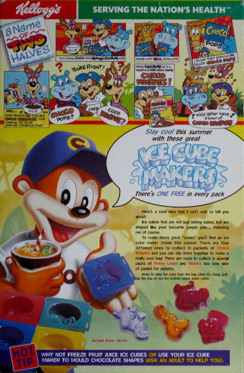 1998 Choco Krispies Ice Cube Makers