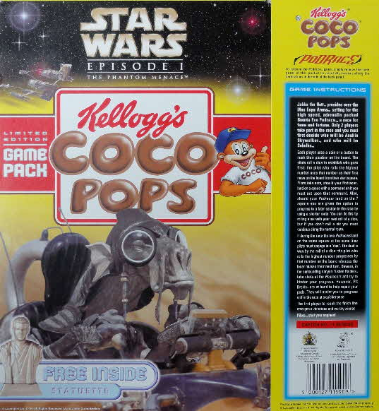 1999 Coco Pops Star Wars Games pack front