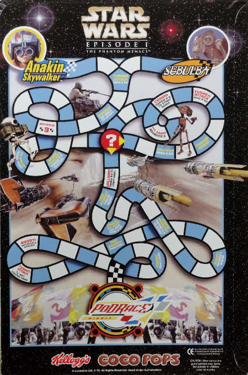 1999 Coco Pops Star Wars Games pack