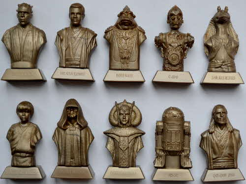 1999 Coco Pops Star Wars Phantom Menace Statuettes1