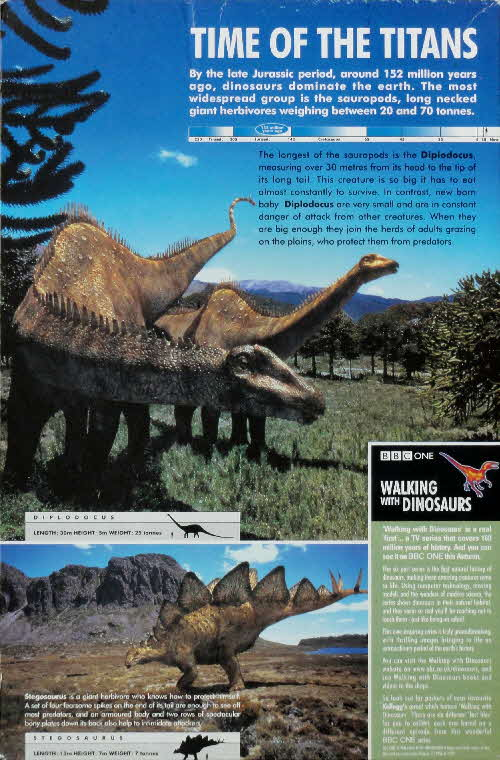 1999 Coco Pops Walking with Dinosaurs Tim of the Titans