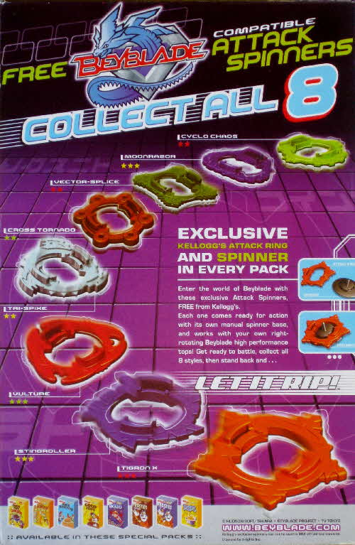 2002 Coco Pops Beyblades1