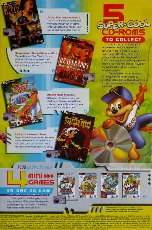 2001 Coco Pops Mini CD Rom Game (2)