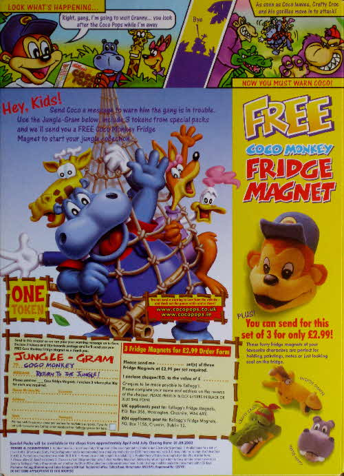 2001 Coco pops Fridge Magnets