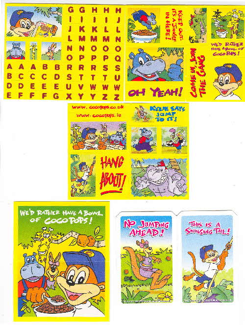 2001 Coco Pops Stickers 2