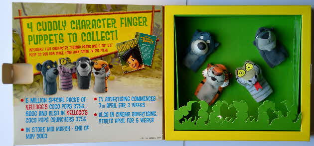2003 Kelloggs Promotional Jungle Book 2 Finger Puppets (6)